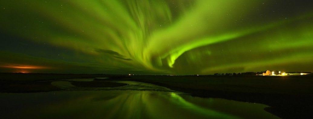 Polarlicht im süden von Island